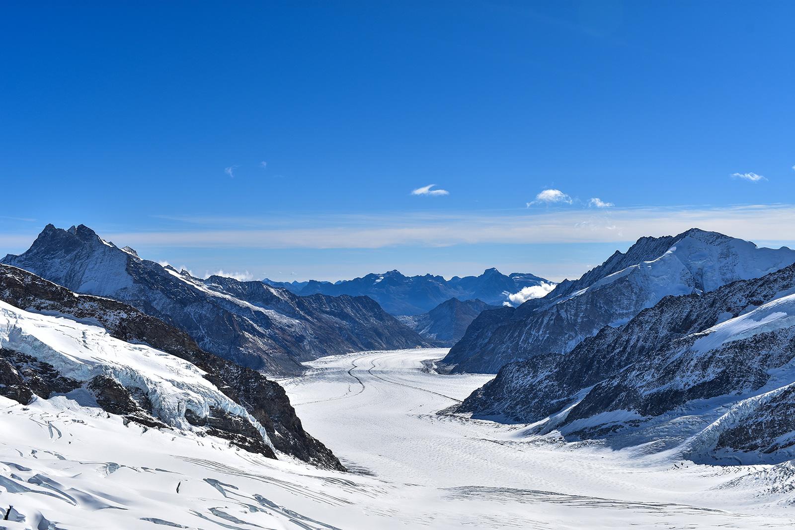 Aletschgleschter Sicht vom Jungfraujoch